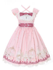 JSK-25-1 Rosa Tea-Time Party Alice Wonderland Sweet Pastel Goth Lolita Kleid