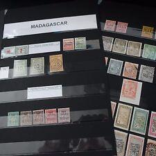 FRANCE COLONIE MADAGASCAR PETITE COLLECTION 1891/1988 AVEC DE BONNES VALEURS