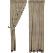 """Vincent Scalloped Country Curtain Panel Set of 2 by VHC Brands - 84 x 40"""""""