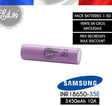 Batterie SAMSUNG INR18650-35E 3450mAh 10A 3.6V - E-Cig E-Bike Lampe Torche