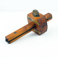 Antique Wood & Brass Marking Gauge : GEORGE WHEATCROFT Newark NJ 1840-1860