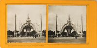 FRANCE Paris Exposition Universelle 1900 Porte Monumentale, Photo Stereo PL60L12