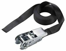 12 Foot Lashing Strap 1-inch Strong Weave Ratchet Tie Down to 500-pounds Black