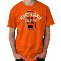 Vintage Pennsylvania Sports University Gift Adult Short Sleeve Crewneck Tee