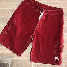 Mens 32 Red Budweiser Swim Shorts Trunks Beach Rays