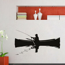 Home Decor Wall Mural A Man Fishing On The Boat Wall Sticker Living Room
