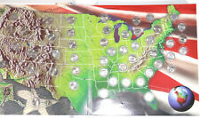 USA COIN COLLECTORS MAP COMPLETE 50 STATE QUARTER 1999-2008 P Mint Rare