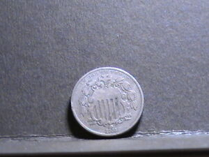 US 5 cents 1868 coin