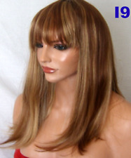 Light Brown Blonde Mix Fashion real natural full wavy curly adult ladies wig I9