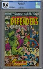 Defenders #34 CGC 9.6 NM+ Wp Vs. Nebulon Marvel Comics 1976 Hulk & Dr. Strange