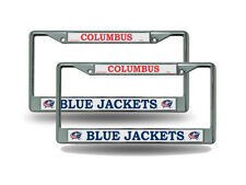 Columbus Blue Jackets NHL Chrome Metal (2) License Plate Frame Set FREE US SHIP