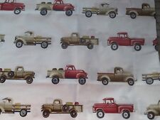 Pottery Barn Kids Retro Pick Up Trucks Custom Valance 92 by 15 PBT