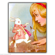 Alice's Adventure in Wonderland A5 METAL SIGN WALL PLAQUE Vintage print poster