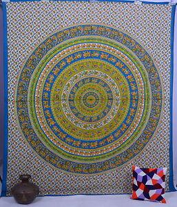 Éléphant Tenture Tapisserie Murale Décor Bohème Coton Couvre-Lit