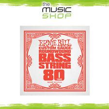 New Ernie Ball 0.080 Gauge Nickel Wound Single Bass Guitar String - 1680
