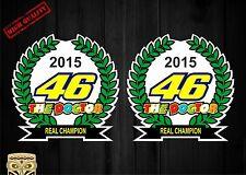 PEGATINA  AUTOCOLLANT ADESIVI STICKER DECAL  VALENTINO ROSSI REAL CHAMPION 2015