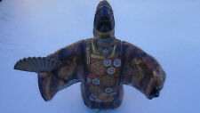 ASIAN MEDICINE WARRIOR MAN METAL STATUE