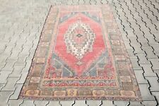 Turkish Rug Vintage Rug Hand Made Rug Oushak Rug Wool Rugs 4'5x7'8 Feet 2431