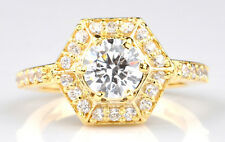 2.60Ct Brilliant Round Shape 14Kt Solid Yellow Gold Solitaire Wedding Ring