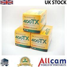 3 Pack: Kodak Tri-X 400 TX 135-36 35mm size Black & White negative film 8667073