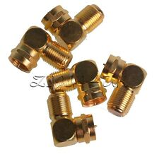 5x F Type 90 Degree Right Angle Adapter Male Female Coaxial Cable TV Connector