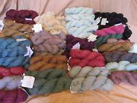 New The Fibre Company Yarn Skeins Terra~Organik~Acadia~Meadow Alpaca~Llama~Silk