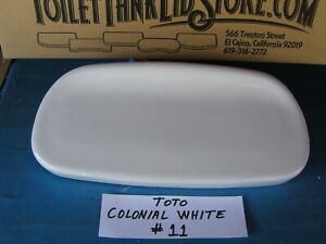 TOTO ST866 Toilet Tank Lid (Raised rear lip) Bristol CST 866 COLONIAL WHITE 7B