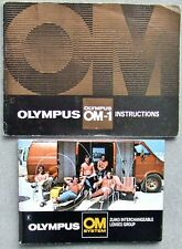OLYMPUS OM-1 INSTUCTIONS + MANUAL for INTERCHANGEABLE LENSES GROUP