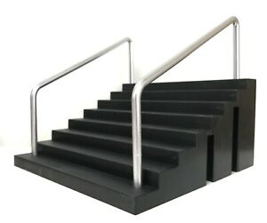 FIG-STAIR: 1/12 scale Black Stairs with rail Diorama