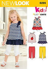 New Look Sewing Pattern 6295 SZ 1/2-4 Toddlers' Pillowcase Top Dress Capri Pants