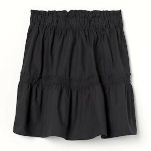 H&M BLACK SHORT COTTON SKIRT SIZE 12 NEW