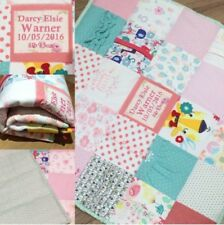 Baby Girl/Boy Personalised Memory/Keepsake Blanket/Quilt Recycle/Upcycle