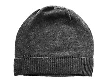 Charcoal Gray grey 100% Pure cashmere Hat Ski beanie Winter Cap skull Unisex 8ad77ba6d1e7