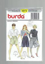 BURDA pattern 4974 shorts culottes pleated SZ 10 12 14 16  PLUS 18 20 uncut