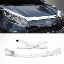 Chrome Emblem Bonnet Bug Shield Hood Guard Molding For KIA 2017-20 Sportage QL