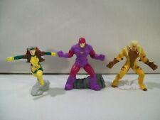 Lot Of 3 Marvel X-Men Pvc Figures Sabretooth Rogue Sentinel Zizzle 2005