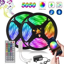 50ft Music Sync Bluetooth APP Remote LED Strip Lights 5050 RGB for Room Party US