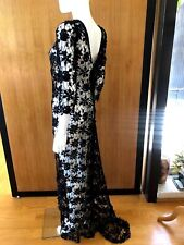 Lim's Vintage All Hand Crochet Evening Dress with Matching Lining, Size S to M