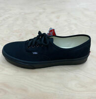 Vans Authentic Trainers Black Black Canvas Classic Old Skool Ship World