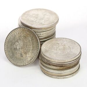 "Mexico: 1948 Cuauhtemoc ""Chief"" 5 Pesos .900 Fine Silver, 30g, .8681 oz ASW"