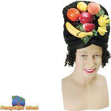 HAWAIIAN CARMEN MIRANDA FRUIT WIG HEADPIECE Ladies Fancy Dress Costume Accessory