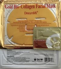 (5+5 ) 5P Gold Collagen Facial Face Mask + 5 Pairs Pilaten Eye Pad, anti winkle