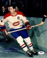 Jean Beliveau autographed signed 8x10 photo NHL Montreal Canadiens PSA COA