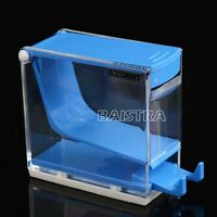 New Dental Plastic Dentist Cotton Roll Dispenser Holder Press Type Blue Color