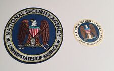 NSA Patch: National Security Agency 80mm Embroidered Patch & Cell Sticker