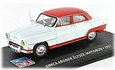 W85 Simca Aronde Elysee-Matignon 1957 1/43 Scale Red/White New in Display Case