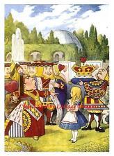Alice In Wonderland Tenniel REPRO Fabric Block 5x7 Queen Off With Her Head!