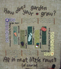 How does your garden grow all neat in a row cross stitch pattern