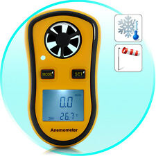 Wind Speed Meter Temperature Measure Gauge (Digital Anemometer with Thermometer)