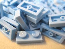 Lego 1x2 Light Blue Plates (100 pieces)